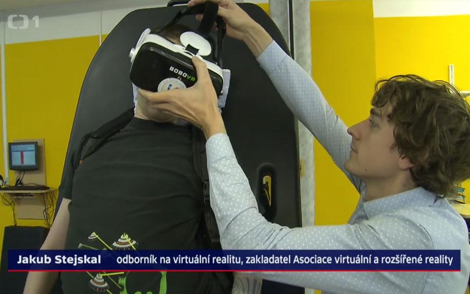 Reportáž na ČT24: Rehabilitace a virtuální realita, 6.1.2018